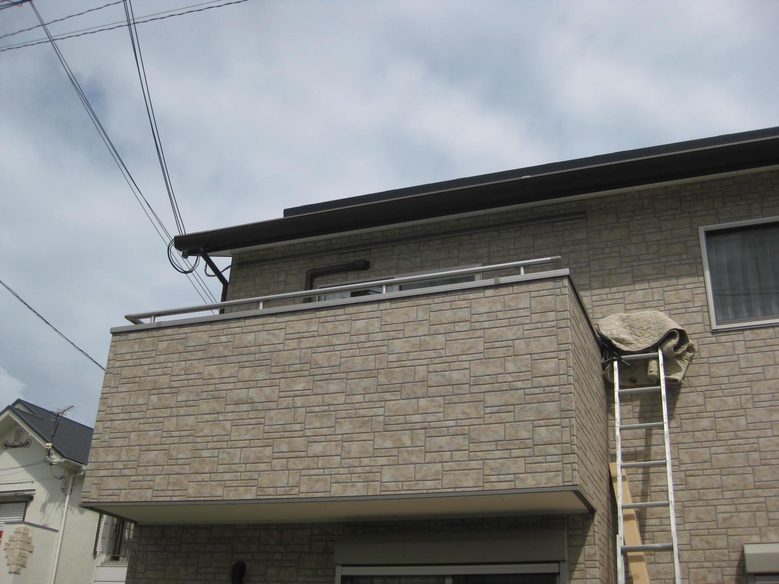 【神戸市リフォーム】バルコニー屋根のリフォーム施工前