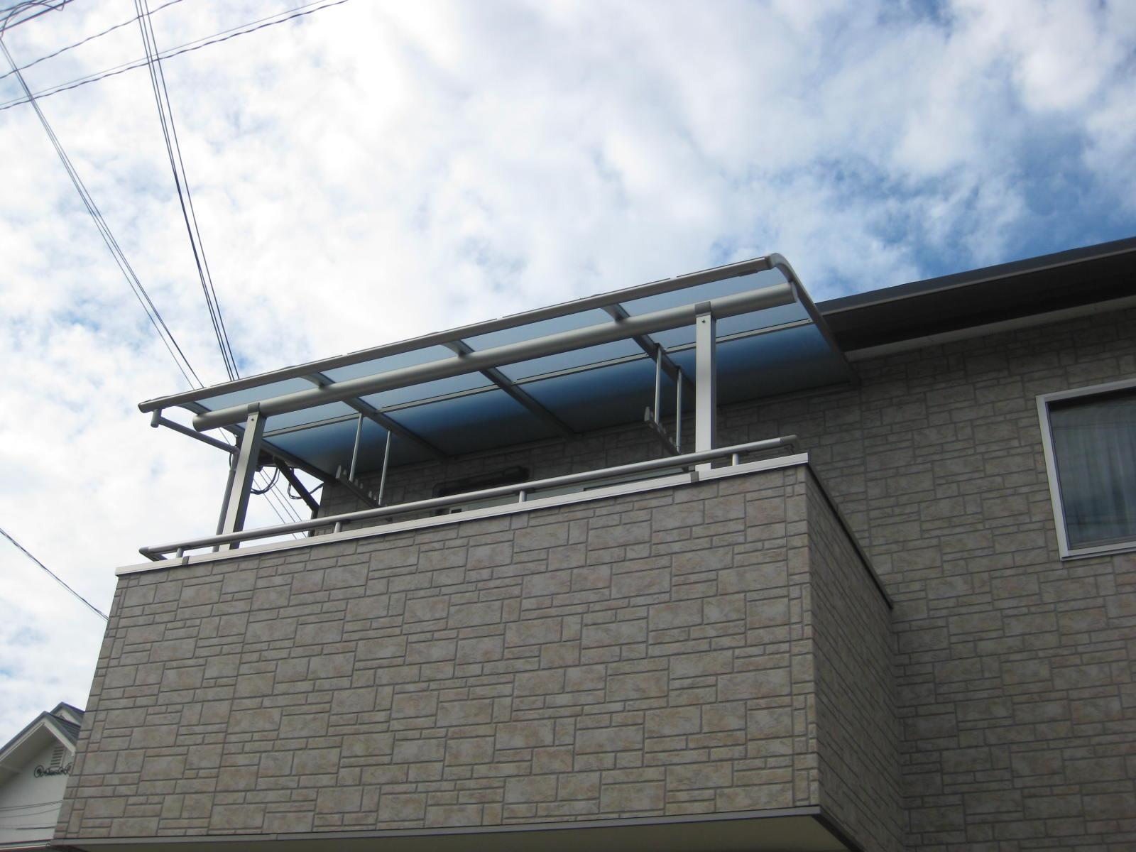 【神戸市リフォーム】バルコニー屋根のリフォーム施工後