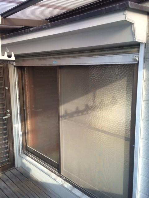 【西脇市リフォーム】シャッター付テラス窓の取替施工前