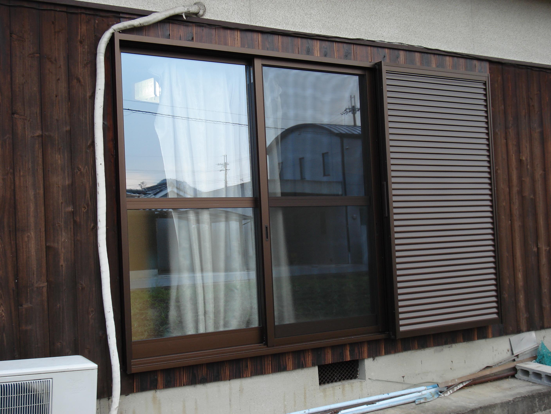 【西脇市リフォーム】雨戸付窓サッシ取替施工後