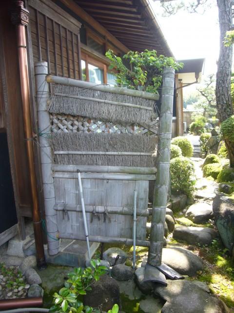【西脇市リフォーム】和風庭の竹垣取替施工前