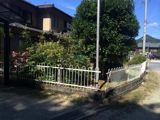 【西脇市リフォーム】フェンス取替工事施工前