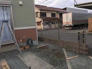 【西脇市リフォーム】バイク置き場設置工事施工前