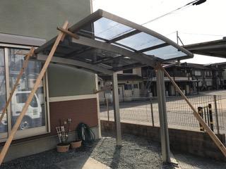 【西脇市リフォーム】バイク置き場設置工事施工後