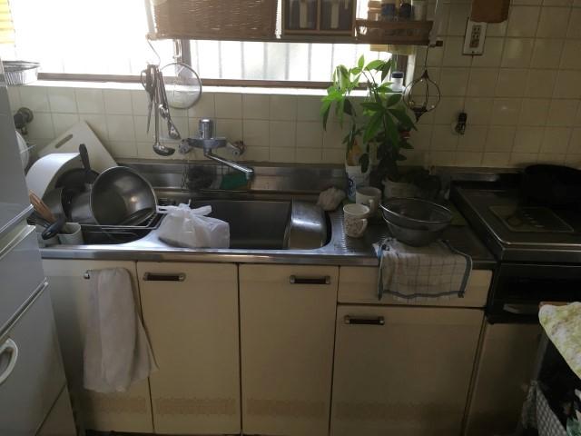 【加東市リフォーム】キッチン取替・バリアフリー工事施工前
